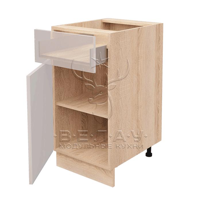 Тумба напольная, дверь + ящик, 400мм